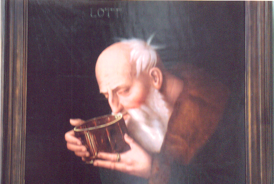 "Lot is mentioned in the Book of Genesis. Notable episodes in his life include his travels with his uncle Abraham, a patriarch of Israel, his flight from the destruction of Sodom and Gomorrah, and the seduction by his daughters so that they could bear children.Christians and Muslims revere Lot as a righteous man of God. According to Christianity, Jesus is a descendent of Lot through David's great-grandmother Ruth, who is descended from Lot's son Moab. The Qur'an does not include any references to Lot's drunkenness nor his incestuous relations. Since he is regarded as a prophet of Islam, any suggestion toward drunkenness or incestuous behavior is considered false. ""Lot"" (detail), by Hans Baldung (known as Grien)-(1484-1545). Gemaldegalerie, Berlin, Germany"