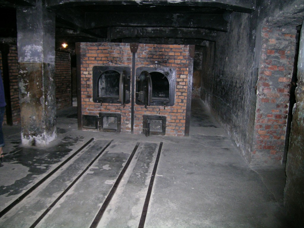 Crematorium, still exists, which was reconstructed after the war using the original components, which remained on-site.