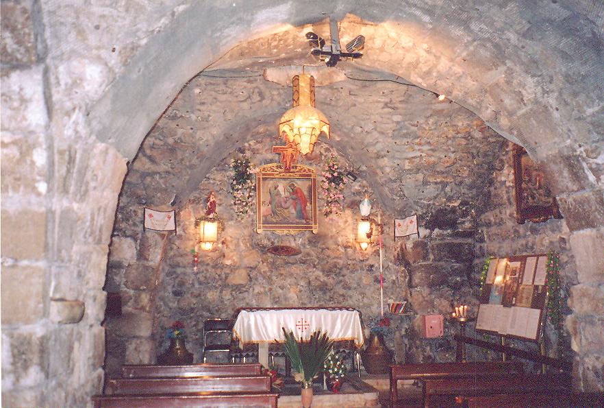 Daha sonra Doğu Kapısı'ndan Hıristiyan mahallesine girdik. İlk Hıristiyanlardan Hananya'nın şapeline gittik. Resullerin İşleri Bap 9 Hananya'dan bahsediyor.