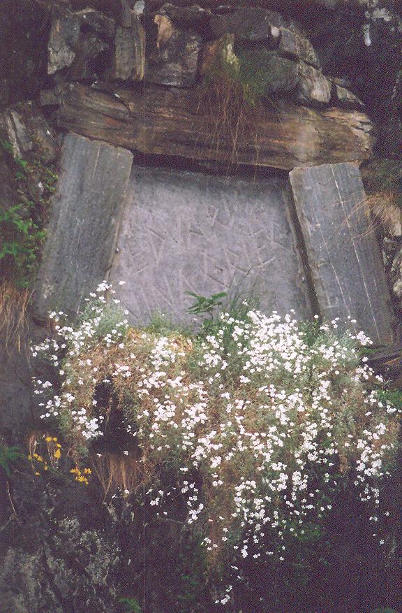 Bahçelerindeki mezar taşında sadece Edvard Nina Grieg yazıyor.