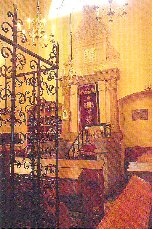 Interior of Remuh Synagogue l6th century, Renaissance style.