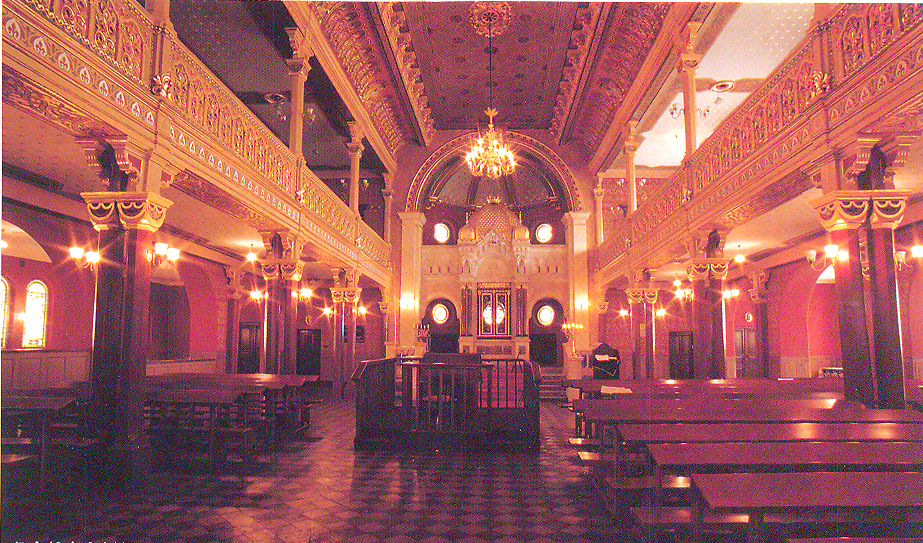 The interior of the Tempel Synagogue. Tempel Synagogue is an active one. Designed in the 1860, at a time Krakow was a part of the Austro-Hungarian Empire.