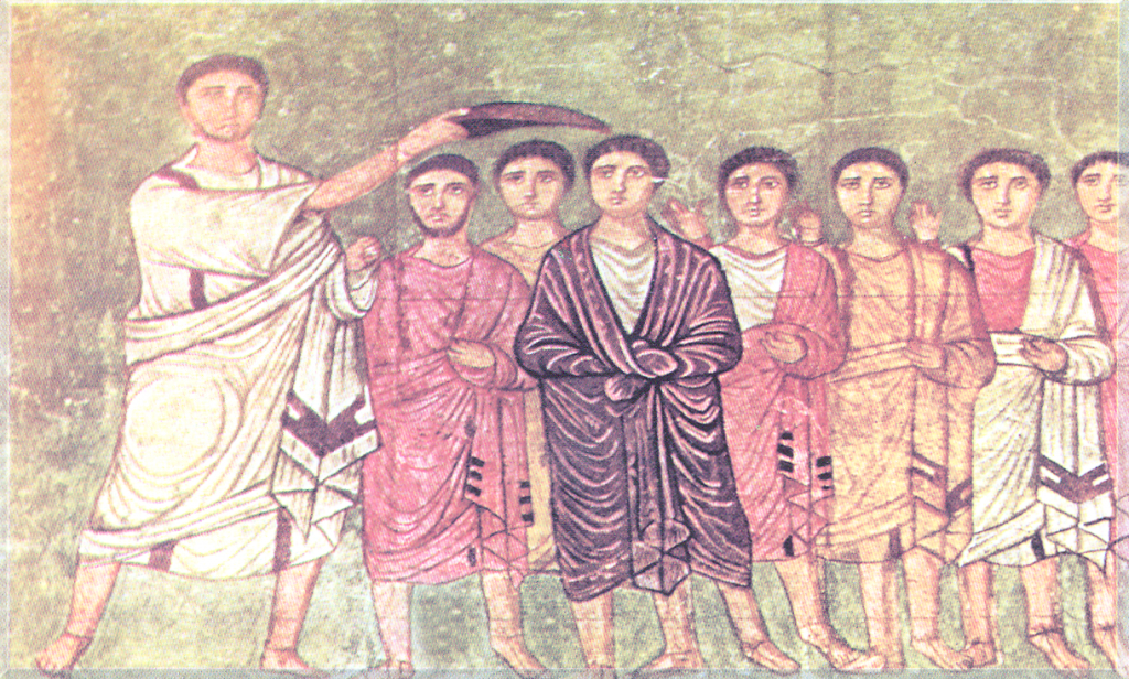 Saul anointing David. Syria – Damascus, National Museum, Dura Europos Synagogue