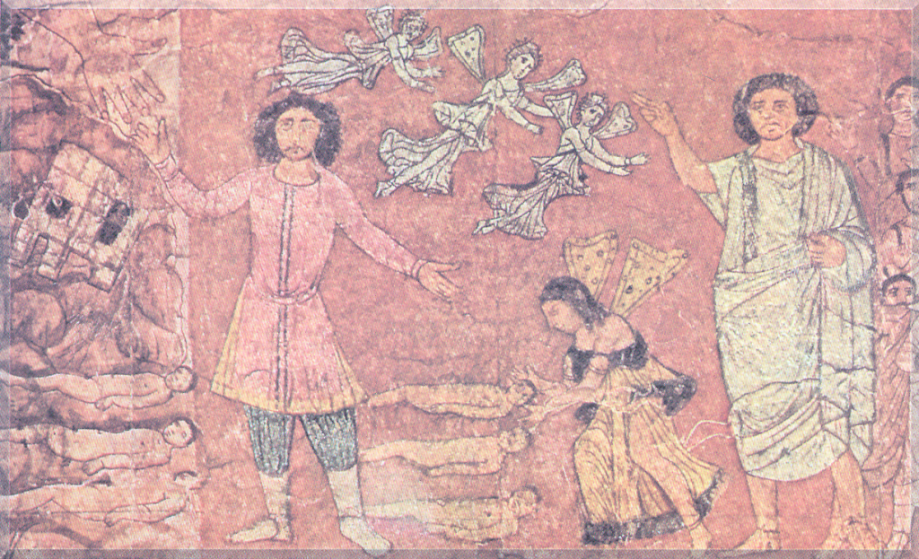 Death of the three Maccabean brothers. Syria – Damascus, National Museum, Dura Europos Synagogue
