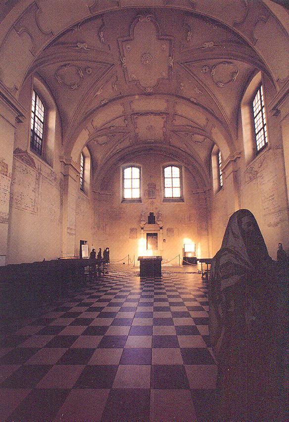 The interior of Isaac's Synagogue.