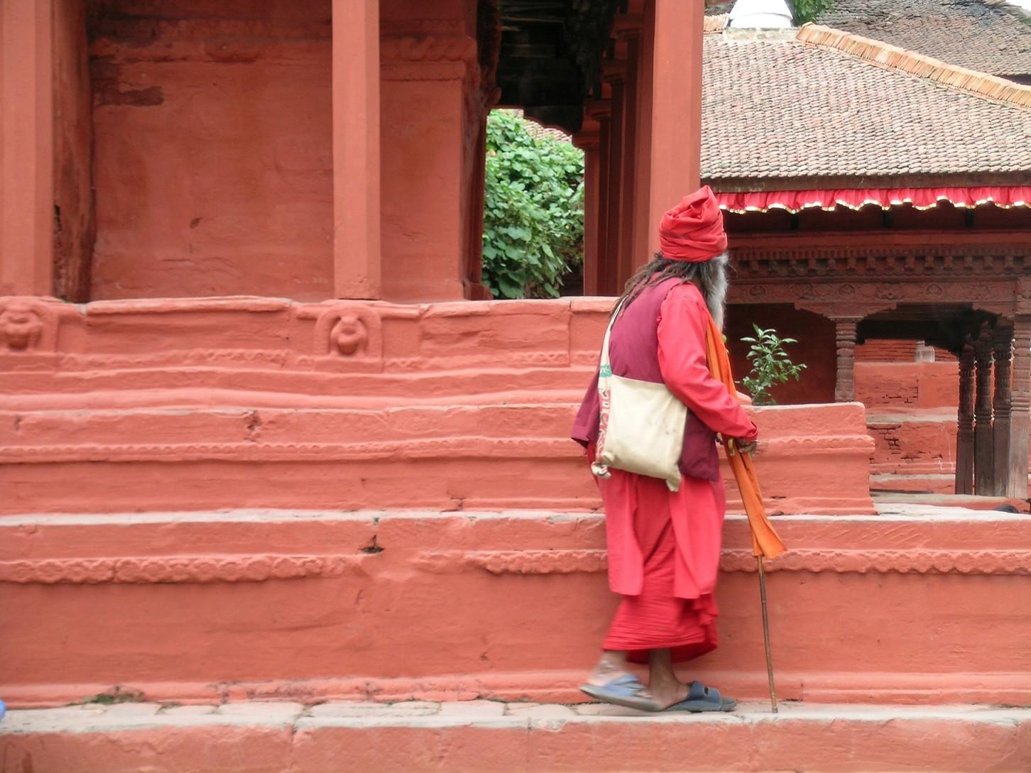 Nepal- Katmandu'da bir keşiş.