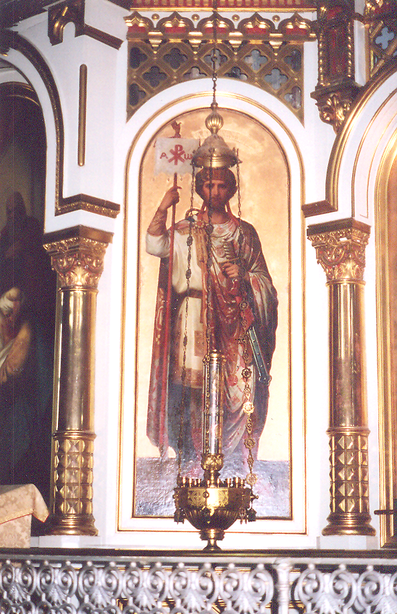 Emperor Constantin, in Russian Orthodox Uspenski Cathedral. Finland - Helsinki