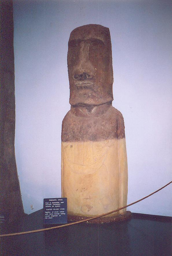 Thor Heyerdahl'ın Paskalya Adası'ndan getirdiği heykeller üzerinde yapılan incelemeler tespitlerini doğruladı. Kon-Tiki Müzesi'nde bu heykellerden bazıları sergileniyor.