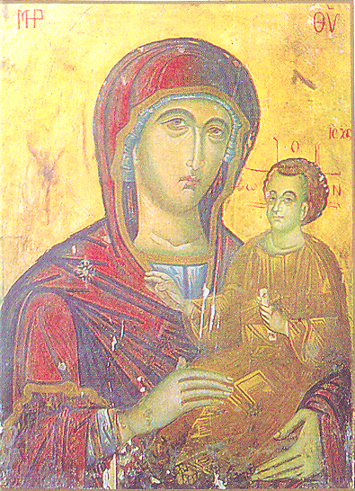 Kilisede, yapımı Aziz Luka'ya atfedilen Bakire Meryem ikonasının kopyası da bulunuyor.