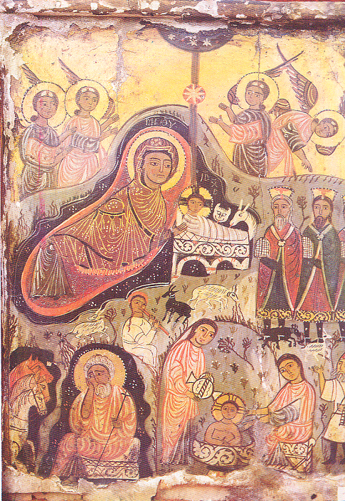 Nativity of Christ, 8th century Encaustic Icon Egypt – the Sinai Peninsula, the Monastery of Mount Sinai-St. Catherine
