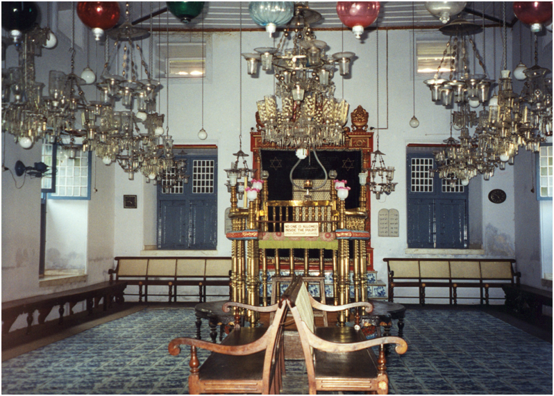 In 1968 the Cochin Synagogue celebrated its 400th anniversary by the presence of Indra Ghandi, Prime Minister of India. It was a great day for Jews in India and abroad, who came in large numbers to take part in the celebrations. India – Kerala, Cochin Synagogue.
