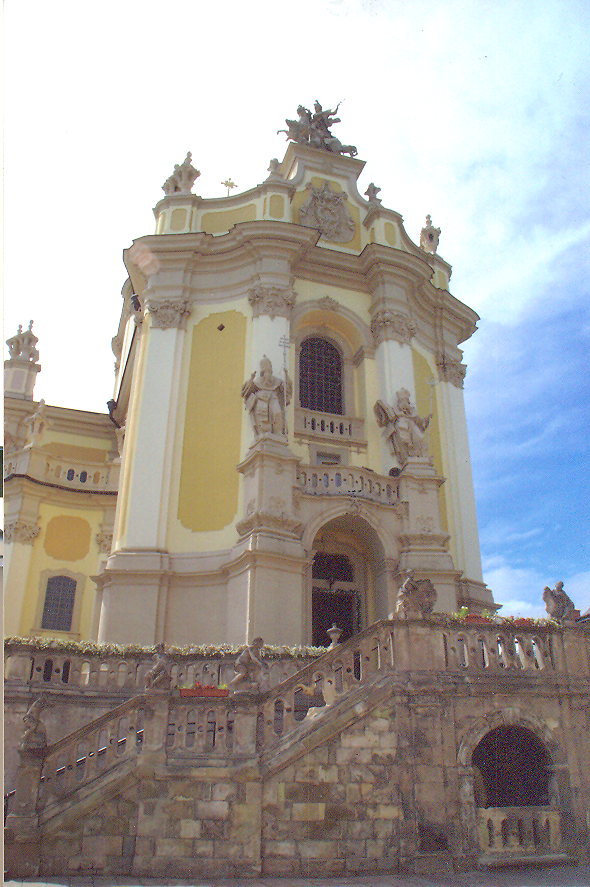 Greek - Catholic church, baroque - rococo style, built in 1744-1760. Ukraine – Lviv, St. George Cathedral.