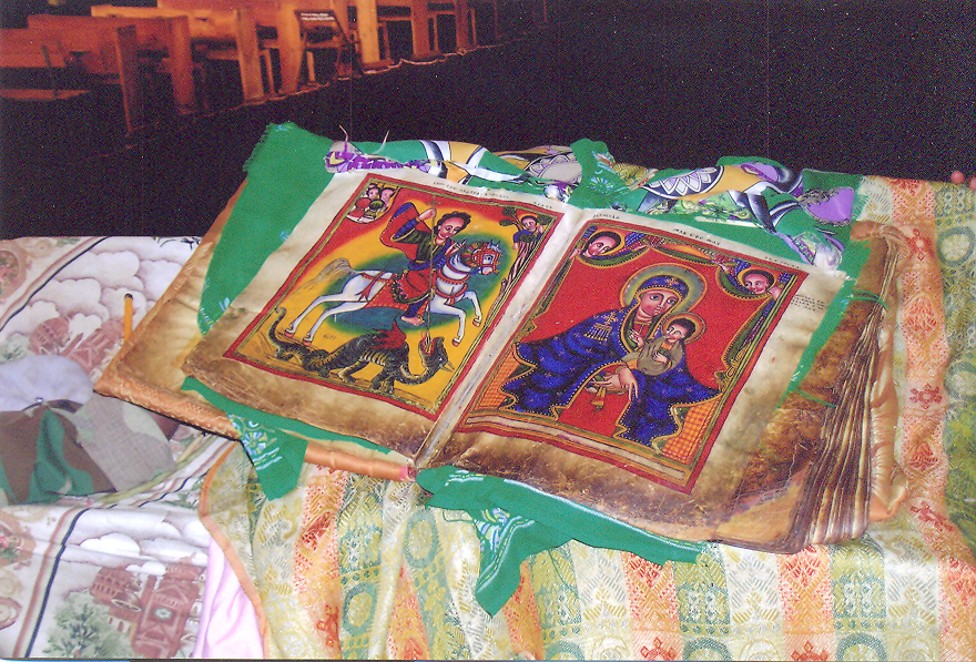 This illuminated Bible is from fourteenth century. St. Matthew is said to have preached in Ethiopia. Ethiopia – Axum.
