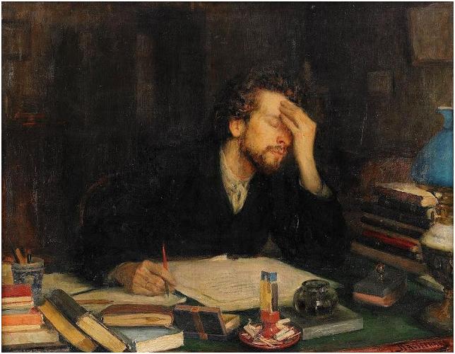 Boris Pasternak'ın babası Post Empresyonist ressam Leonid Osipoviç Pasternak (1862-1945)'ın bir tablosu.