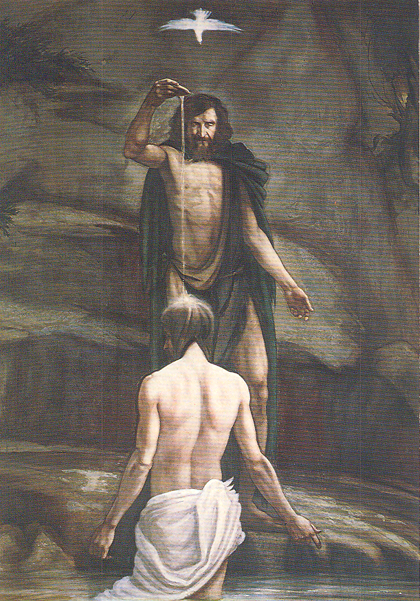 The Baptism of Jesus, B. Long, 1979, Montecassino Abbey, Italy.