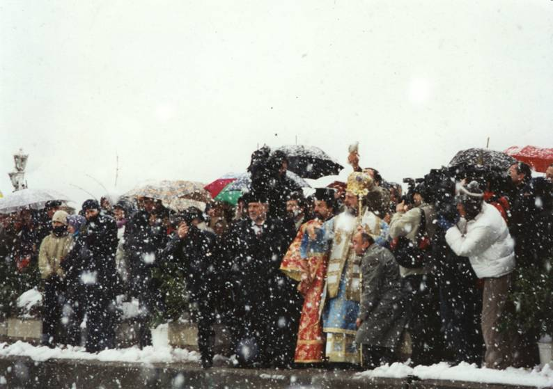 Turkey – Istanbul, Cengelkoy, January 6th 2002, Fota Ceremony, on a snowy day.