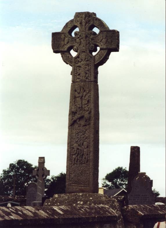 Republic of Ireland – Sligo. The Celtic Cross. The circle placed round the centre of the Latin cross is said to unite the carnal with the spiritual world. The Celtic Cross is combined the symbol of Christianity with the sun cross, to give pagan followers an idea of the importance of the cross by linking it with the idea of the life-giving properties of the sun. Other interpretations claim that placing the cross on top of the circle represents Christ's supremacy over the pagan sun.