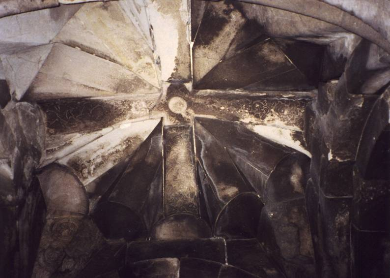 Turkey – Erzurum, Caylıyamac Village, Osk Vank. One of the crosses on the dome of a Georgian Orthodox Church dating from the Bagrationi Dynasty, 10th century.