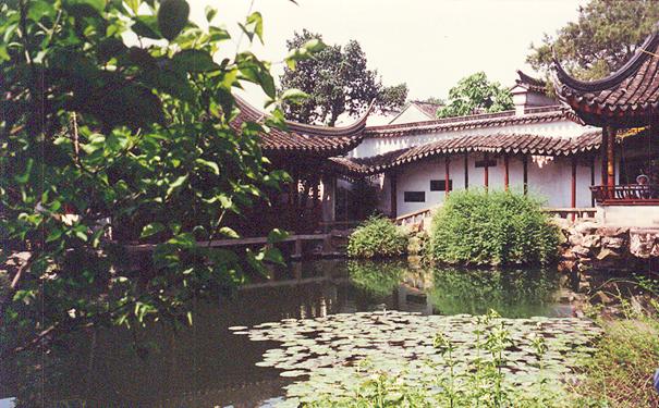 Suzhou'da Fisherman's Garden.