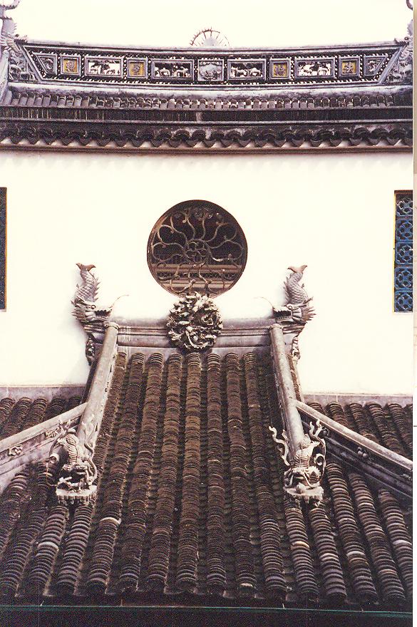 Yeşim Buda Tapınağı çatı detayı, Şangay.