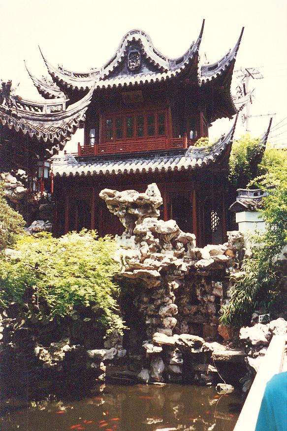 Şangay'daki Mandarin Bahçesi.