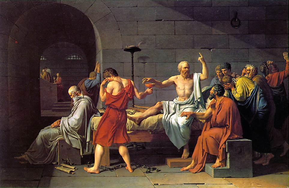 Jacques- Louis David (1748-1825), Marat'nın Ölümü (1793), Belçika Kraliyet Güzel Sanatlar Müzesi, Brüksel. David resim eğitimini Fransız Krali¬yet Resim ve Heykel Akademisi'nde tamam¬ladı. Napolyon tarafından baş ressamlığa atanmıştı.