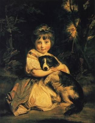 Sir Joshua Reynolds (1723-1792), Miss Bowles. Reynolds, İngiliz Kraliyet Akademisi kurucularındandır ve ilk başkandır. Daha çok portre ressamıdır ve çocukların masumiyetini resmetmeyi sevdiğini belirtmiştir.
