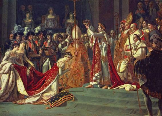 Jacques- Louis David, Napolyon ve İmparatoriçe Jozefin'in Taç Giyme Töreni.