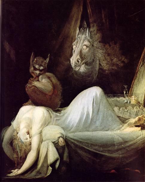 1781 tarihli Kabus adlı tablonun ressamı, hayatının önemli bir bölümünü İngiltere'de geçirmiş olan İsviçreli  Johann Heinrich Füssli'nin (1741-1825) yarattığı dünya şaşırtıcı, iç karartıcı ve erotik bir dünyaydı. Bundan dolayı Füssli'nin yalnızca romantizmin öncülerinden biri değil, aynı zamanda sembolizmin, hatta sürrealizmin habercisi olduğu kabul edilir.