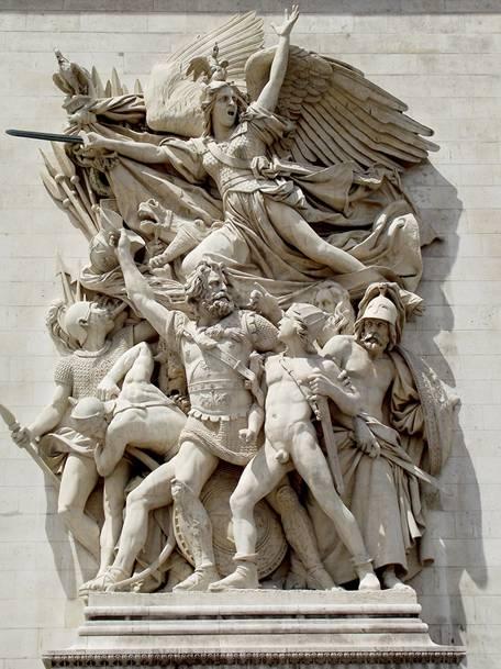 1833 yılında Paris'teki Zafer Anıtı için yapılan dört heykelden biri olan François Rude'un (1784-1855) La Marseillaise veya Gönüllülerin Yola Çıkışı heykel grubu anlatımcı gerçekçiliği ve güçlü hareketi ile Fransız romantik heykel sanatının başyapıtıdır.