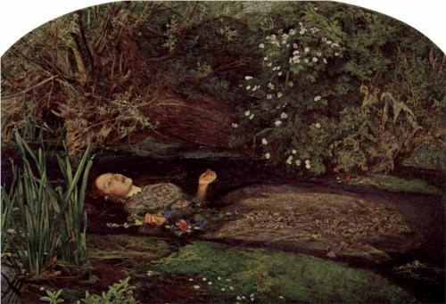 John Everett Millais, 1852, Ophelia.