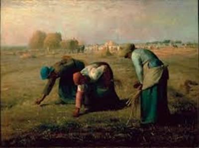 Jean-François Millet 1857'de yaptığı tabloda hasatta çalışan üç köylü kadını çizdi. Tablo hiçbir hikâye anlatmıyordu ya da bir dram betimlenmemişti. Sadece işlerini yapan üç kadın vardı.