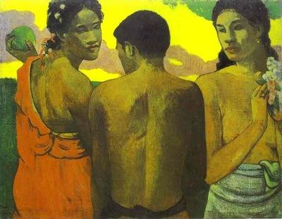 Gaugin, Üç Tahitili.