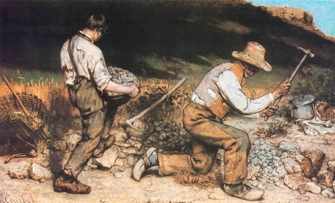 Gustave Courbet (1819-1877), Batı Medeniyeti. Courbet, Fransız Gerçekçi Okulunun öncüsü. Bazı tablolarında sembolist ögelere de rastlanır.