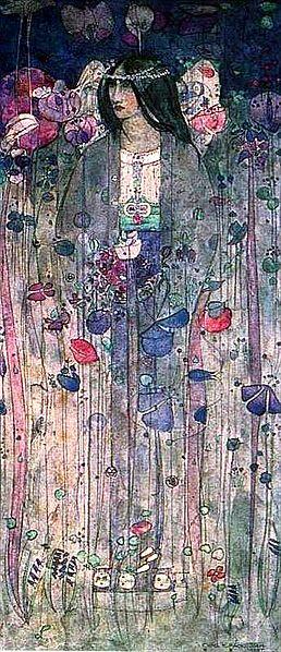 Charles Rennie Mackintosh (CRM), Hayal Ülkesinde, sulu boya,1897.