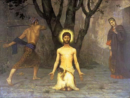 Vaftizci Yahya'nın Öldürülmesi, Pierre Puvis de Chavannes, 1869.