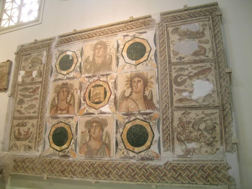 Trablus'ta, 2005 yılındaki adıyla Cemahiriye Müzesi'nde Dört Mevsim tablosu.
