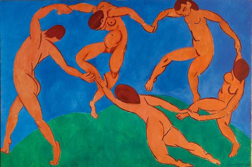 Henri Matisse, Dans. Sanatçı bu yağlı boya tablodan birkaç tane yapmıştır. Mesela 1909 yılında yapmış olduğu New York'ta MOMA'da, 1910 tarihli olanı St. Petersburg'da Hermitage'da sergilenmektedir. Dış boşluk için bu tabloyu seçmemizin nedeni, bu tabloda dış boşlukların makasla kesilip çıkartılabilecek kadar net olmasıdır. Matisse'in başka bir tablosunda ise mavi örtünün dış boşluğu sarı çizgilerle vurgulanmıştır.