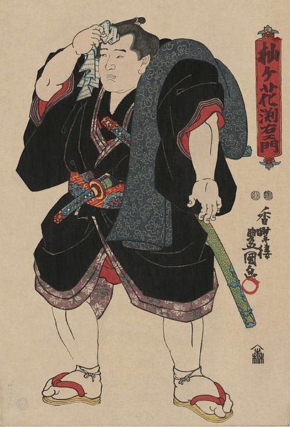 Sumo güreşçisi, 1850.