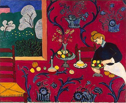 Henri Matisse, Kırmızılı Uyum veya Kırmızı Oda, 1908.
