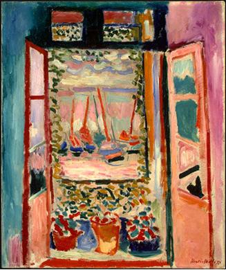 Henri Matisse, Açık Pencere, 1905, Washington DC Ulusal Sanat Müzesi.