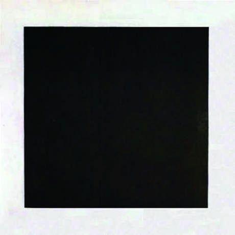 Kazimir Malevich, Siyah Kare, 1915/1913. Rus Devlet Müzesi, St. Petersburg. Ünlü Siyah Kare çok ciddi eleştirel tartışmalara konu olmuştu. Malevich kendi manifestosunda siyah kareyi 'formun sıfırı', beyaz fonu 'bu hissin arkasındaki boşluk' olarak nitelemişti.