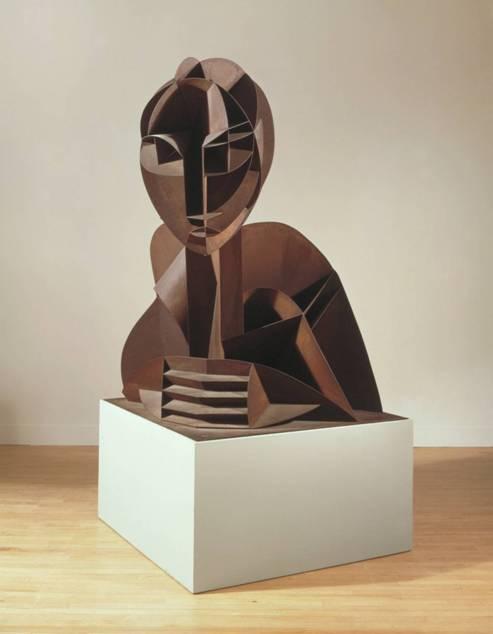 Rus asıllı, ABD'ye göç etmiş olan Naum Gabo (1890-1977) da eserleri ile Konstrüktivizm'in önemli üyelerinden. Head No. 2, 1916. Büyütülmüş kopya, 1964. www.tate.org.uk