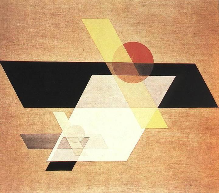 Macar ressam ve fotoğraf sanatçısı Lászlo Moholy-Nagy (1895-1946), endüstri ve teknolojiyi sanatla bütünleştirmek gerektiğine inanmış, Konstrüktivizm'den çok etkilenmiştir. Bauhaus'ta ders de vermiştir. Kendisine özgü saydamlık oyunları ile yanılsama yaratan eserler vermiştir. Yapıtlarının en büyük özelliği ışık tutkusunu yansıtması olmuştur. Kinetik bir heykel de yapmıştır. 1921 yılında bir tabelacıya telefonla bilgi vermek suretiyle üç resim yaptırmış, bu yolla yeni sanatın kişisel üslup ve ustalıkla hiçbir ilgisi olmadığını göstermek istemişti. Yeni kullanıma giren telefonun da eserin siparişinde kullanılması teknolojiyi de olaya dahil etmişti. 1926 yılından sonra resimlerini bazısı düz, bazısı girintili plastik maddeler üzerine yapmış, böylece ışığın nesne üzerindeki boşluklara da ulaşmasını sağlamıştı. A 11, 1924. Guggenheim Müzesi, New York.