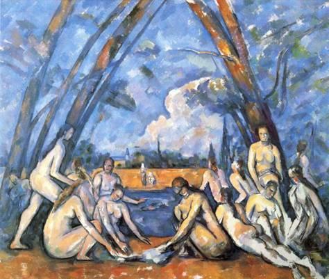 Cezanne, Yıkananlar, 1905.