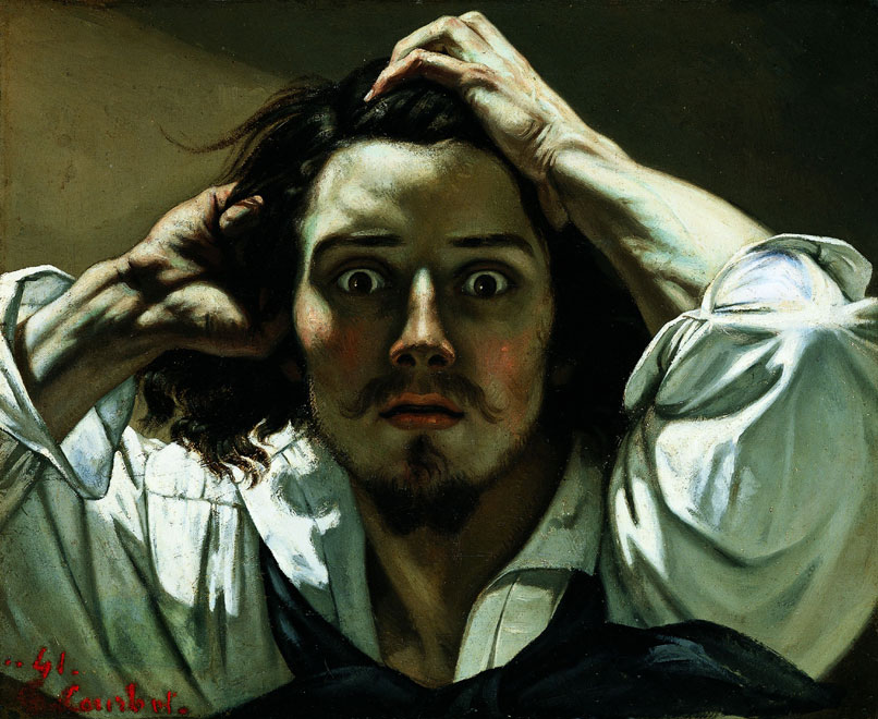 Gustave Courbet, The Desperate Man, 1844-1845, özel koleksiyon.