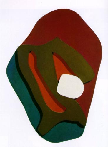 Jean Arp, Orman, 1917. Soyut formlar ile kolaj yapmış. Soyut biçimleri, çoğu tesadüfen yanyana, üstüste koyarak derinlik ve hareket getirmiş. Tesadüfen çünkü kontrolü bilinçli olarak bırakmak istemiş. Jean Arp 1916 yılında Dada hareketinin kurucularından biri olmuş, 1925 yılında Sürrealistlerle sergi yapmış. Sonra Sürrealist gruptan ayrılmış ve 1930'lardan sonra soyut heykeller yapmaya başlamış.