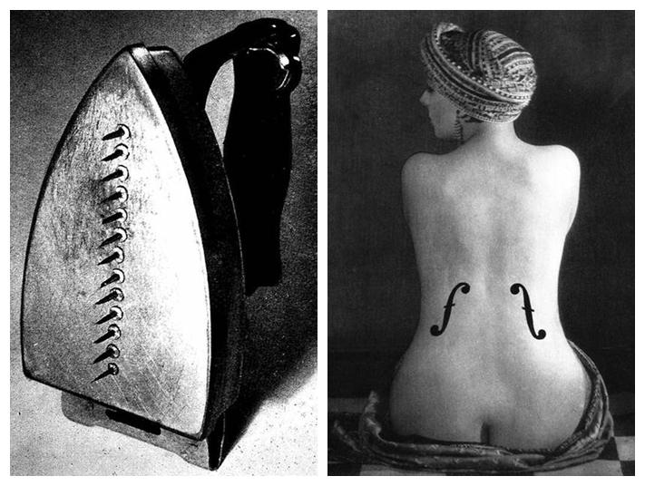 """Çığır açan fotoğrafçılığına ilaveten sanatın diğer dallarında da eser vermiş olan Man Ray (1890-1977), ironik bir şekilde Hediye adını verdiği 1921 yapımı, boyanmış ütü yüzeyine bir dizi çivi yapıştırarak nesnenin amacına ulaşmasını engelleyen bir müdahale yapmıştır. Man Ray'in geleneklere karşı çıkan eseri, gelenekleri savunan topluma karşı bir eleştiriydi. Eser, estetik etkiden ziyade saldırganlık, yabancılaşma ve zarar fikirlerini bir araya topluyor. Man Ray """"Mükemmel ile orjinal arasında bir seçim yapmak zorunda kalsam, orjinali seçerdim"""" demiş."""