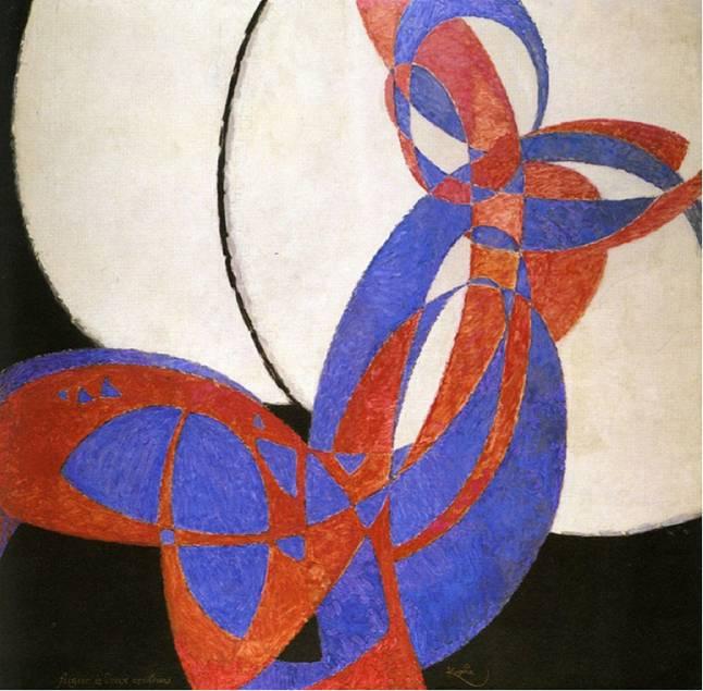 Frank Kupka, Amorf, İki Renkli Füg, 1912.