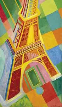 Robert Delaunay 1910'lardan başlayarak Eyfel Kulesi'nin çeşitli resimlerini yaptı. 1889'daki Dünya Sergisi için edilen Eyfel, yaklaşık 300 metrelik yüksekliği ile 1918 yılına kadar dünyanın en yüksek yapısı olarak kalmıştı. Modern çelik sayesinde inşa edilebilmiş olan Kule, teknolojinin yeni olanaklarını simgeliyordu. Robert Delaunay'ın Eyfel Kulesi serisinden 1925 tarihli bu Eyfel tablosu Christie's müzayede evinde 3,737,250 Pound'a alıcı bulmuş.